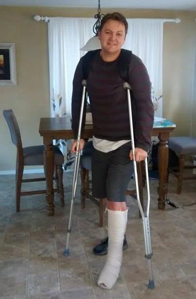Achilles Cast Crutches